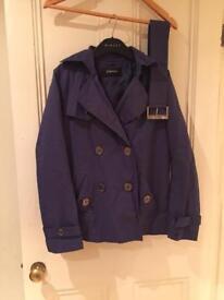 Purple shower proof coat/jacket