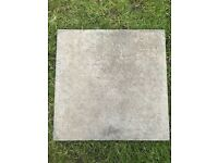 95 Concrete patio slabs in excellent condition - 400mm x 400mm x 25mm (£2.50 per slab)