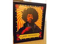 Framed Jimi Hendrix poster