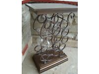 13 BOTTLE WINE RACK WITH GLASS RACK 33INCH TALL 21INCH WIDE 11INCH DEEP ONLY £20