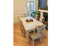 Farmhouse solid wood 8 seater dining table and 6 chairs