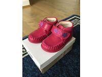 Brand new Clarks LitzyFleur red girl shoes, size 4