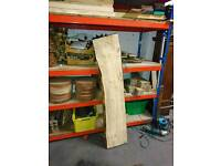 Douglas fir solid waney edge boards