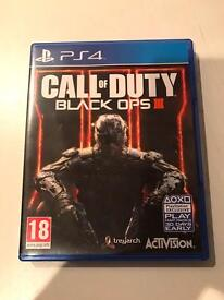 call of duty black ops 3 , ps4 , as new ! price stands , no offers !