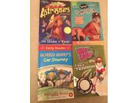 4 books: horrid henry, hank zipzer, astrosaurs, will solvit