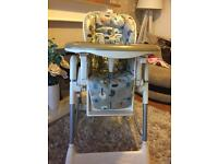 Fab high chair in vgc hi chair low chair reclines lovely patten bargain