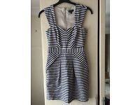 Warehouse stripy dress