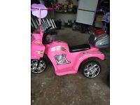 Pink electric police bike