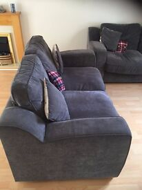 2 comfy Sofas and a footstool in great condtion