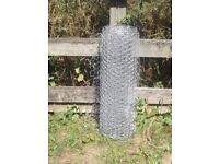 Galvanised Chicken Wire, Fence, Pet, Garden - As NEW 16 foot x 2 foot