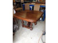 Antique, French solid oak dining table