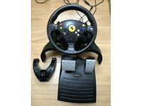 ORIGINAL XBOX STEERING WHEEL CONTROLLER AND SELECTION OF GAMES