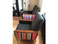 Pair of Stunning Mid Century Reupholstered Chairs