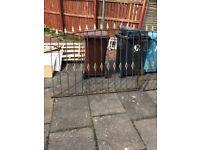 Scrap iron driveway gates