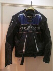 Wolf leather motorcycle jacket, chest size medium large / UK 42