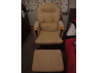 Hauck glider nursing chair and footstool