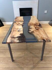 Bespoke river coffee table