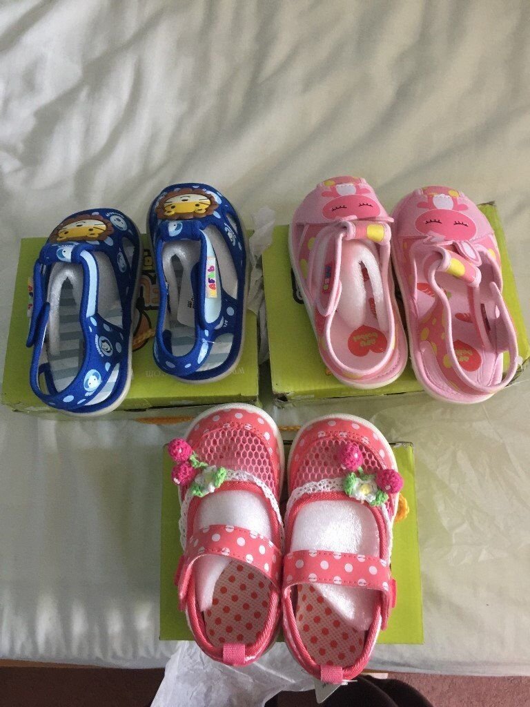 Brand new childrens shoesin Southville, BristolGumtree - Brand new childrens shoes with box. made of cloth and PU soft sole. colour royal blue size 5/14.5cm; size 4/13.5cm colour pink size 5/14.5cm colour red size 5.5/15cm three pairs ask for £5