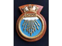 Ships plaque - HMS OLYMPUS