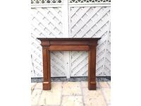 Traditional style wooden fire surround