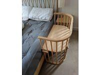 Babybay Bedside Cot - Convertible Varnished Beech