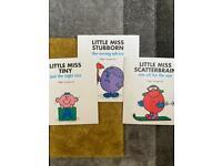 3x Mr Men Books ( little Miss)