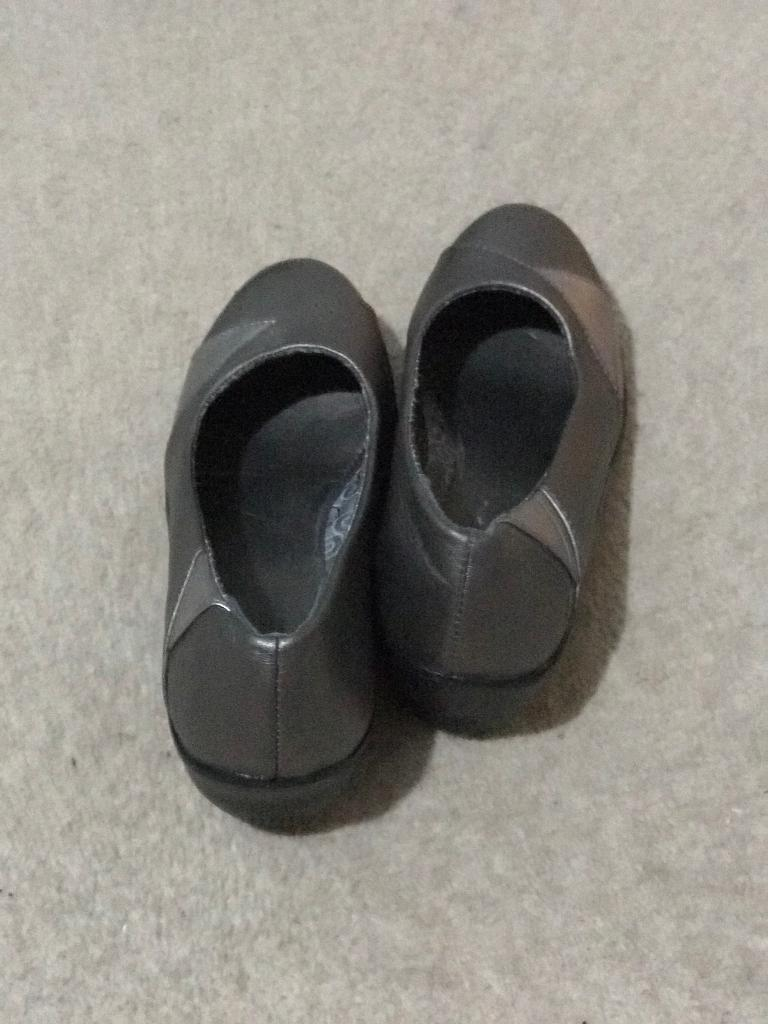 c6c5a67de81 Size 5 Silver wedge shoes - excellent condition. Offers welcome | in  Northampton, Northamptonshire | Gumtree