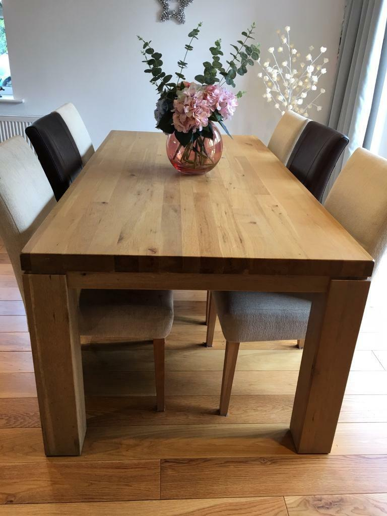 Solid Oak Dining Table 6 8 People In Cambridge Cambridgeshire