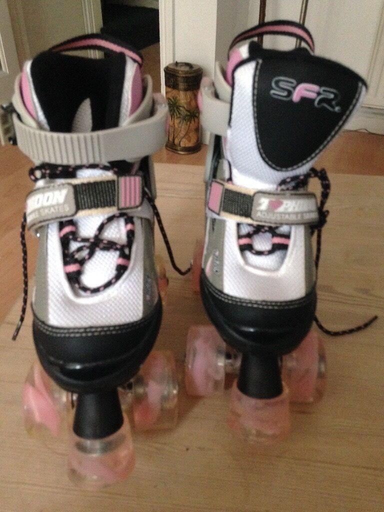 Girls adjustable roller skates