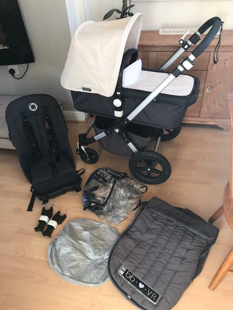 Bugaboo Cameleon 3 Unisex Off White With Footmuff Car Seat Adapters