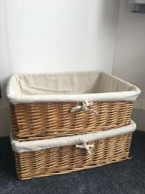 Wicker baskets - perfect storage!