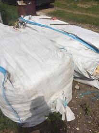 Hi here's 2x large bags of fibreglass loft insulation free