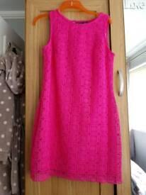 Cerise shift dress