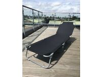 ARGOS black foldable multi-position Lounger, as good as new