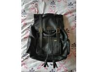 A Genuine Dr Marten's Black Leather Rucksack