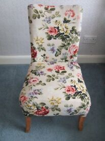 Vintage teak upholstered nursing chair/bedroom chair - charity sale
