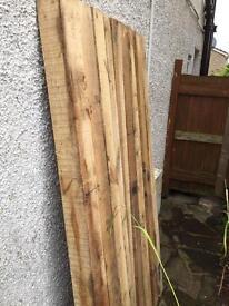 Oak posts x 9