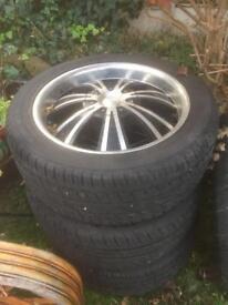 20'' 6X139 alloy wheels Fit TOYOTA LAND CRUISER HILUX SHOGUN NISSAN MITSUBISHI L200