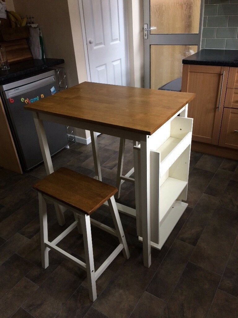 Small breakfast bartable with 2 matching stools in bebington small breakfast bartable with 2 matching stools watchthetrailerfo