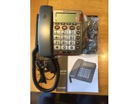 Amplicomms 49 Plus LOUD BIG BUTTON Corded Telephone USED BOXED AS NEW