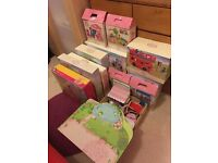 ELC Rosebud Cottage wooden dolls house toys - all boxed and immaculate. see ad for list
