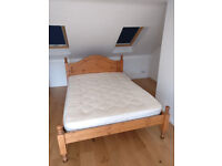 Really good quality pine double bed 4ft 6 inch.