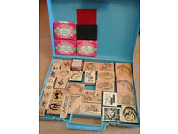 RUBBER STAMPS FOR CRAFTING (85)Case included.Excellent condition.Could deliver local