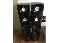 Large floor speakers (pair) + amplifier if needed