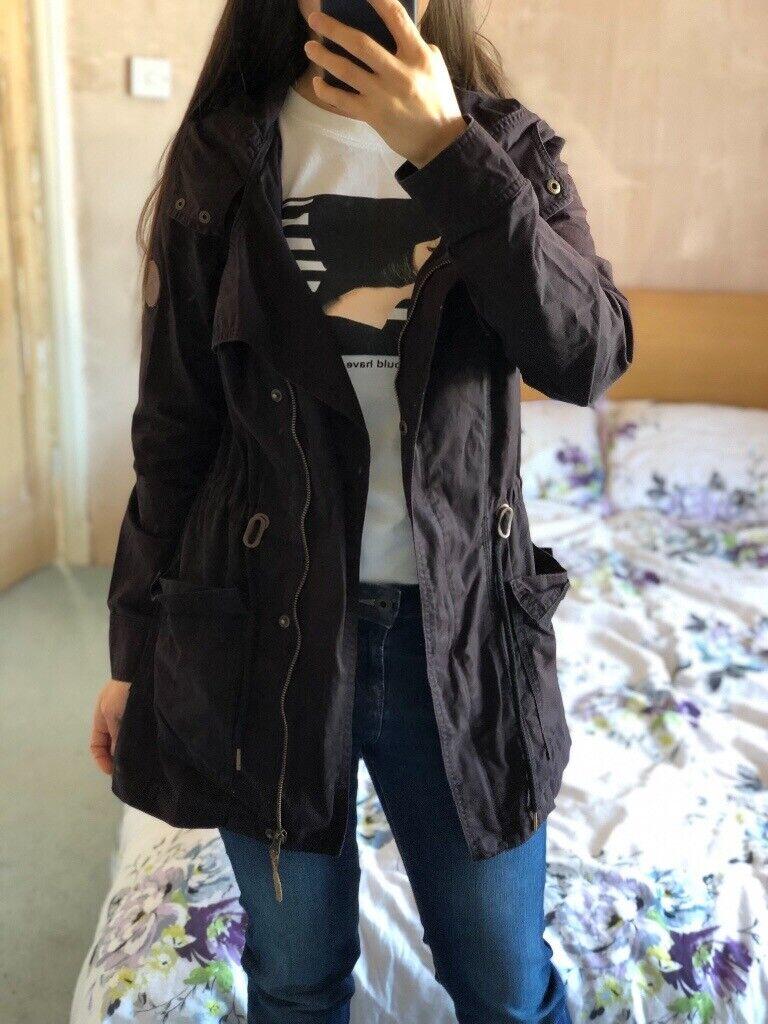 98e67ef3 Roxy Black thin coat, size 8   in Southwick, East Sussex   Gumtree