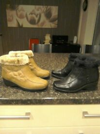 Ladies boots size 4 reduced one price for all three.