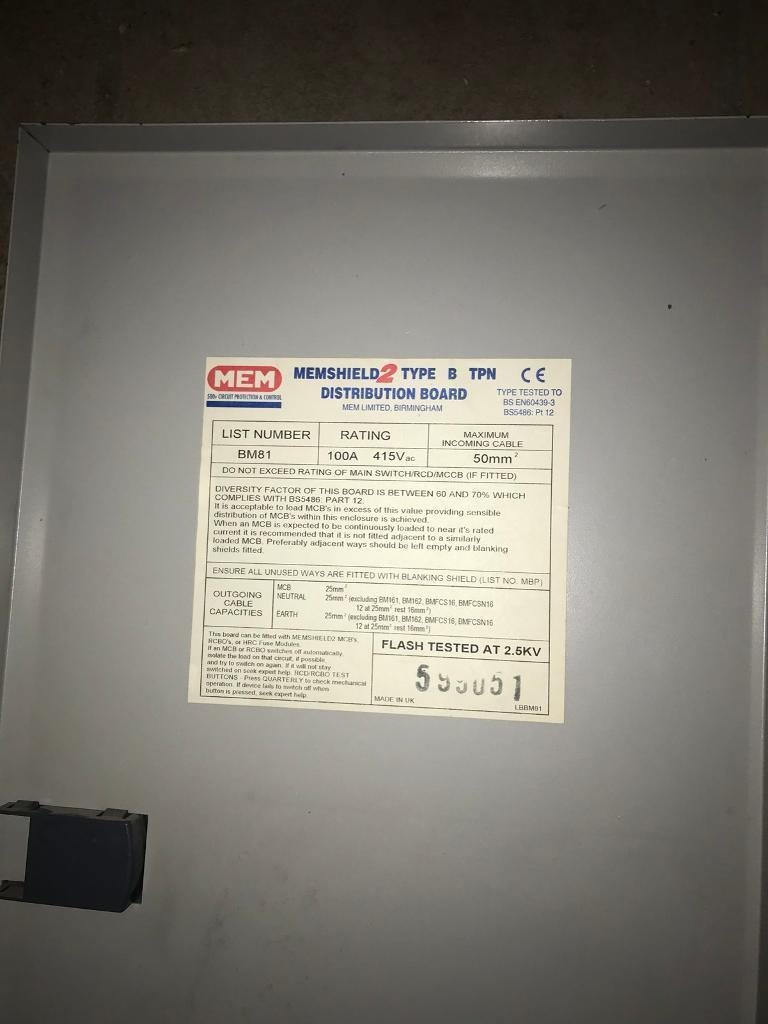 3 Phase Consumer Unit | in Coventry, West Midlands | Gumtree