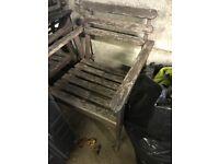 Old wooden garden chairs