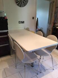 White solid kitchen table top
