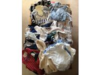 Bundle of Baby Boy 0-3 Month Clothes
